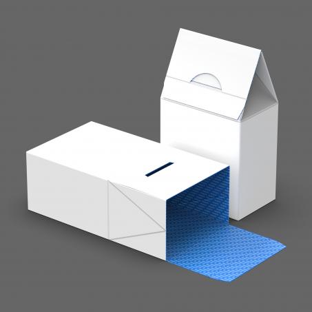 1-2-3 Lock Bottom Box with Folded Gable Top