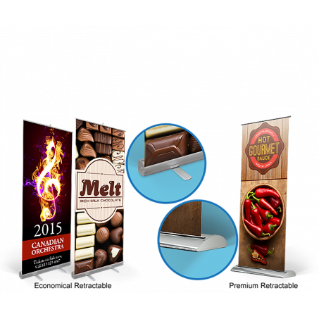 Retractable Banner with Display Stand
