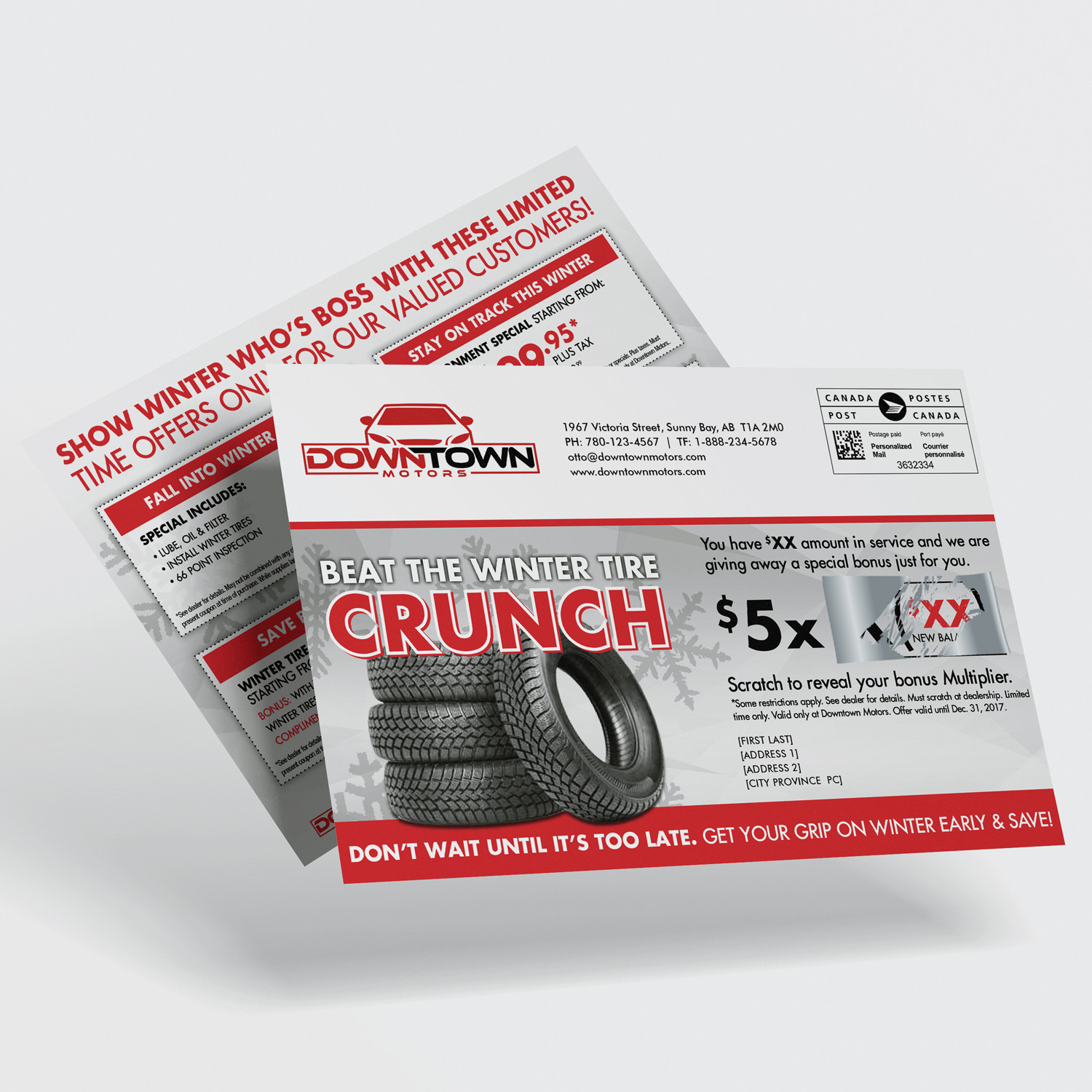 Scratch and Win Direct Mail