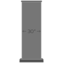 Premium 30 in Wide Extendable Retractable Banner Stand icon