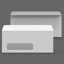 24 lb. White Wove with Window icon