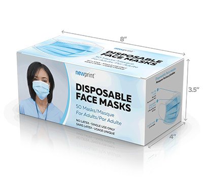 Face Mask Boxes that fits 50 face masks